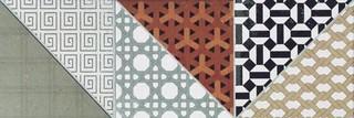 DDPPD659 Deco vícebarevná dlaždice kalibrovaná 44,5x14,7x1