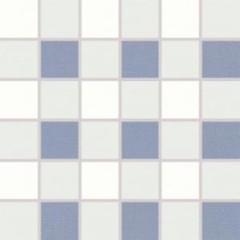 WDM06154 Tendence bílo-modrá mozaika 30x30 cm 4,7x4,7x1