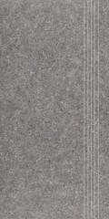 DCPSE636 Rock tmavě šedá schodovka 29,8x59,8x1