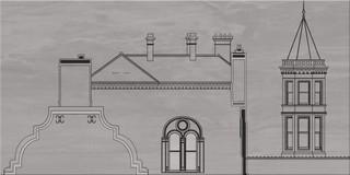 City grey inserto house A 29,7x60