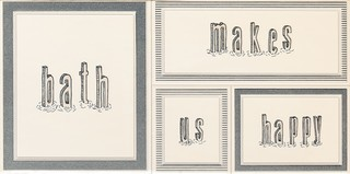 Dekor Grafite white 1 STR 22,3x44,8