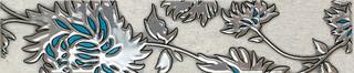 Listwa Gris flower turkus 7,4x36
