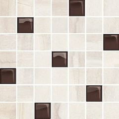 Simple stone beige glass mosaic 25x24,86