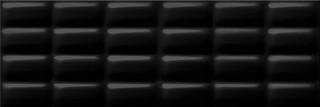 Black glossy pillow 25x75