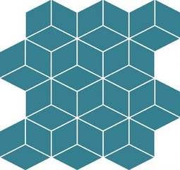 Colour blink mosaic diamond turquoise 28x29,7