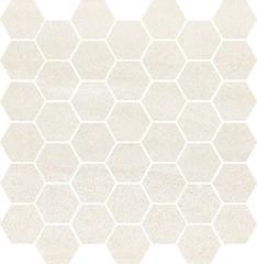 Bantu cream heksagon small mosaic glossy 29x29,7